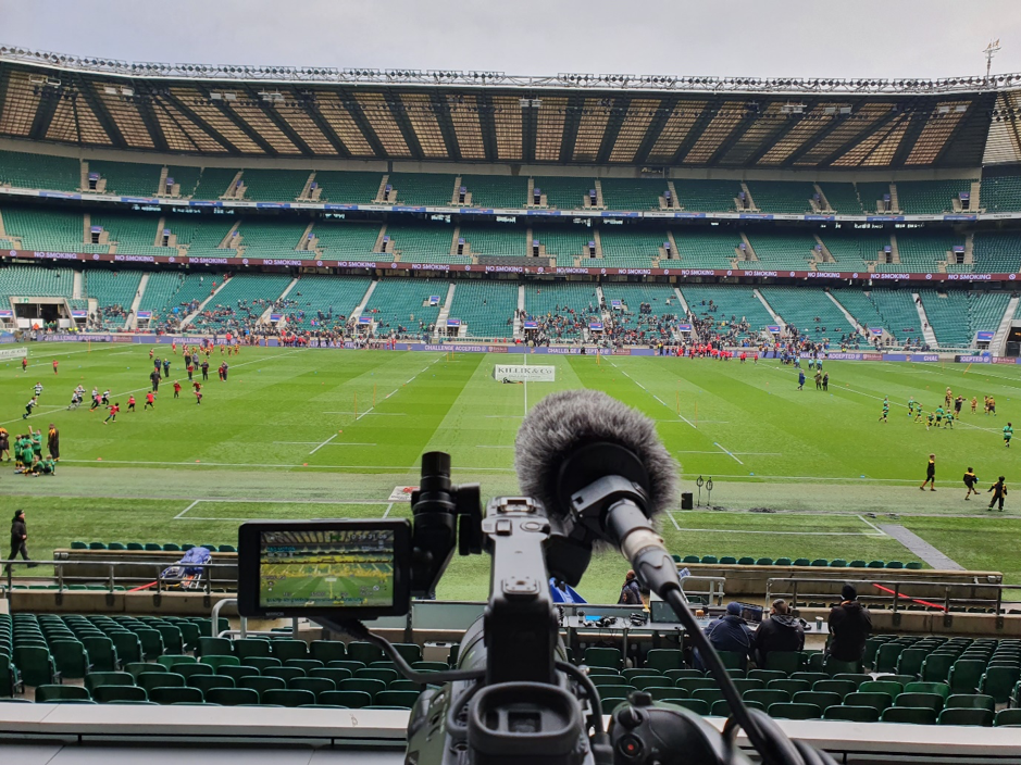 Live Streaming at Twickenham Stadium for a Rugby Match