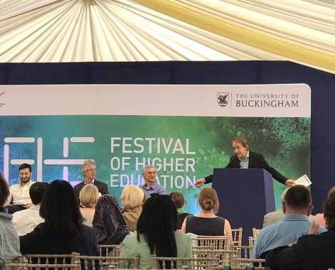 Festival of Higher Education Set Stage Marquee